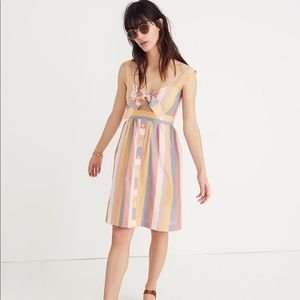 Madewell Tie-Front Cutout Dress